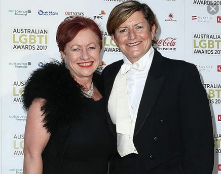 Christine Forster et sa compagne